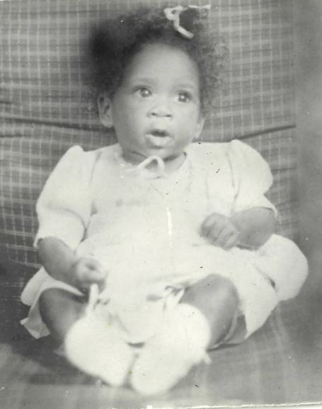 Childhood photo of Patti LaBelle.