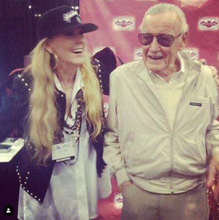 Photo of Joan Celia Lee while spending some quality time with her father, Stan Lee before his demise.