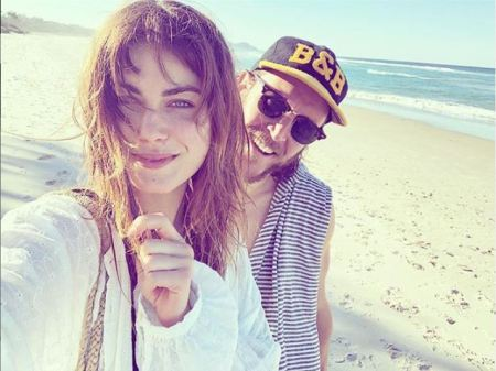 Charlotte Best spending quality time with her boyfriend, Ryan Ginns on the beach.