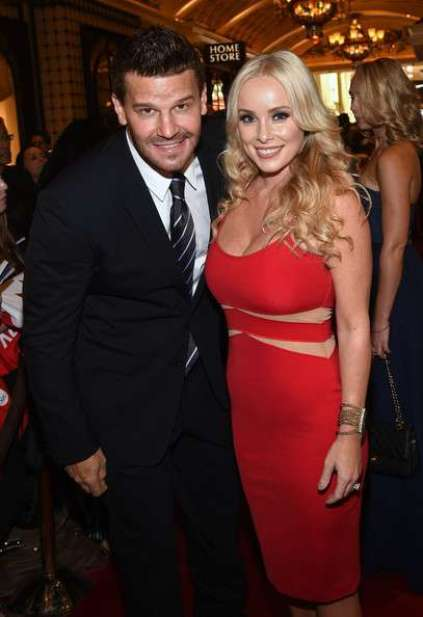 Jaime Bergman and her husband, David Boreanaz arrived on the red carpet prior to the NHL Awards at Encore Las Vegas on 24th June 2014, in Las Vegas, Nevada.