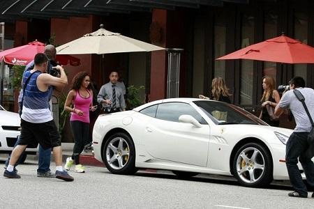 Mel B ferrari car spotted in california