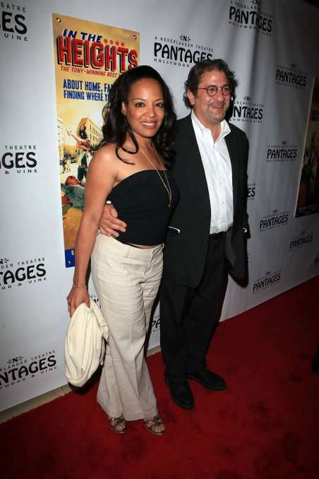 "Lauren Velez (L) and husband Mark Gordon arrive at the opening night of ""In The Heights"" at the Pantages Theatre on June 23, 2010 in Hollywood, California"