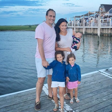 Andrew Sansone with his wife and children enjoyin the vaccation