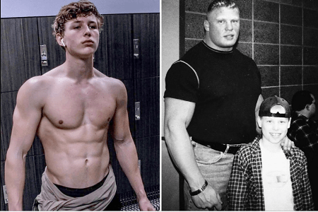 Luke Lesnar then and now
