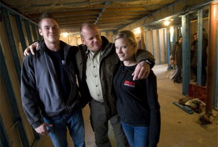 Mike Holmes and his son and daughter