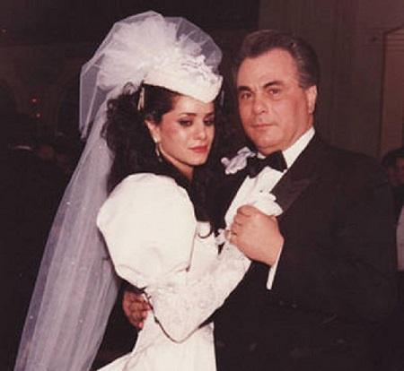 John Gotti and Victoria DiGiorgio on their wedding