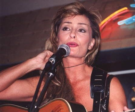 Janis Oliver during a performance