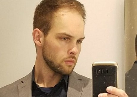 Joseph Worton taking a selfie,