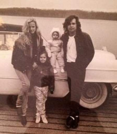 John Mellencamp childhood photo with his father & sibling