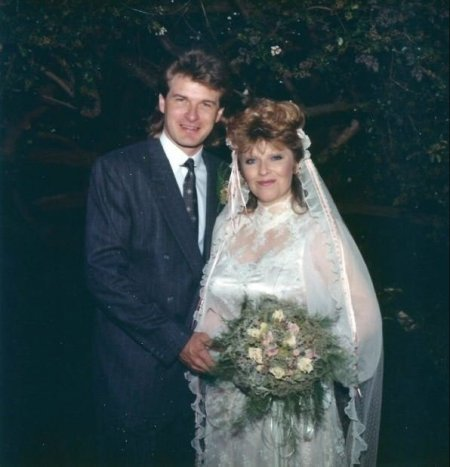 Beth Maitland and her husband, Christopher Banninger's wedding ceremony.
