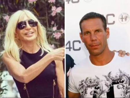 Photo of Manuel Dallori and his wife, Donatella Versace.