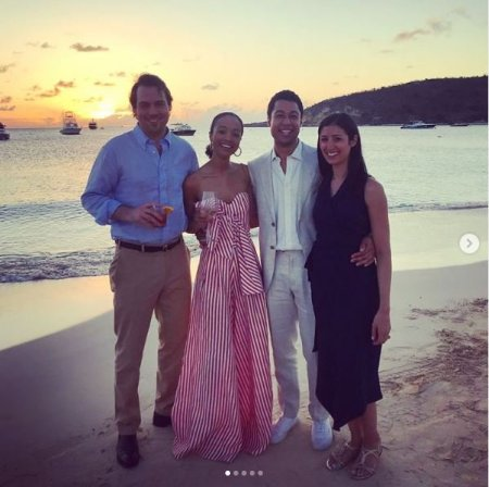 Erin Westbrook enjoying her time with her lovely friends in Anguilla.