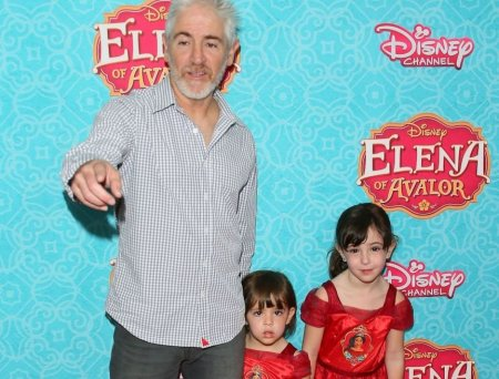 Carlos Alazraqui with his two kids arrived at the screening of Disney Channel's 'Elena of Avalor' on 16th July 2016, in Beverly Hills, California.