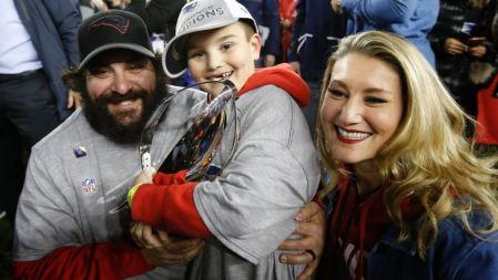 Matt Patricia's son, Dominic Patricia and his wife, Raina.