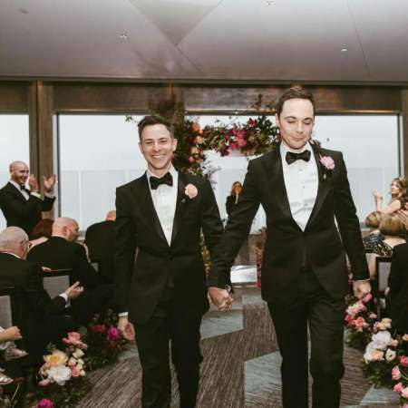Jim Parsons and his spouse, Todd Spiewak's wedding ceremony.