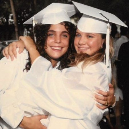 Bethenny Frankel with her best friend on graduation day.