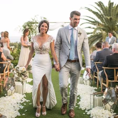 Sasha Clements on her wedding day along with her husband Corbin
