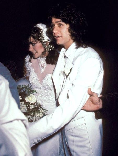Eddie and Valerie in their wedding day
