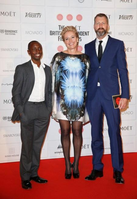 Tindyebwa Agaba Wise with his mother Emma Thompson