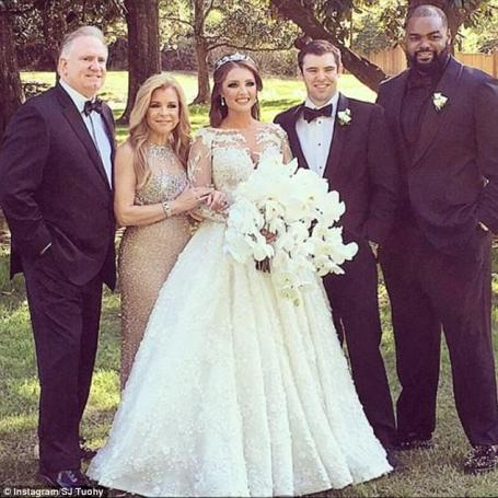 Sean Tuohy Jr. family on his sister wedding