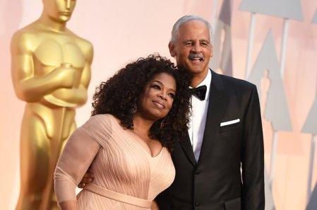 Nominee for an Oscar award Oprah Winfrey is alsog with her partner Stedman Graham