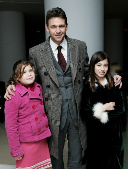 Dougray Scott with his twin children, Gabriel and Eden.