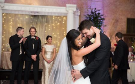 Veronica and her husband, Tommy Kahnle's wedding ceremony.