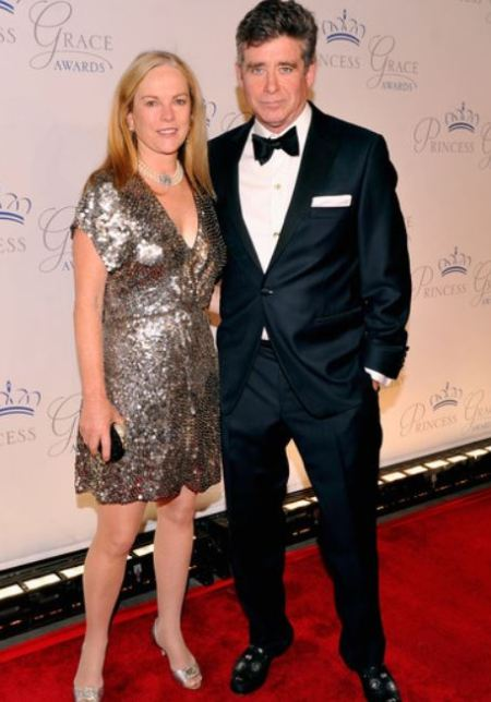 Jay McInerney and his wife, Anne Hearst arrived at the 30th anniversary Princess Grace awards gala at Cipriani 42nd Street on 22nd October 2012, in New York City.