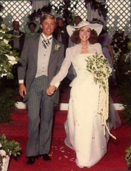 Karen Carpenter and her husband, Thomas James Burris' wedding ceremony.