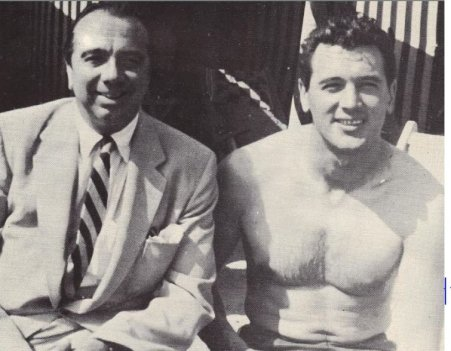 Jim Nabors with his partner, Rock Hudson.