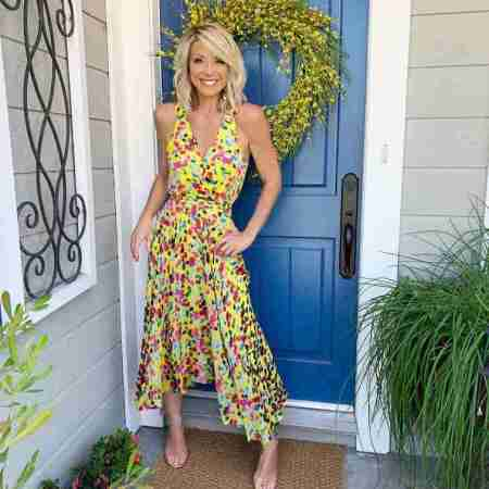 Debbie Matenopoulos recently shared a beautiful photo of her on her Instagram while in Universal Studios Backlot Home & Family Set on 4th September 2019.