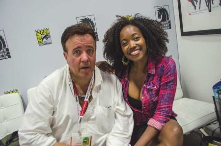Erika Alexander with her ex-husband