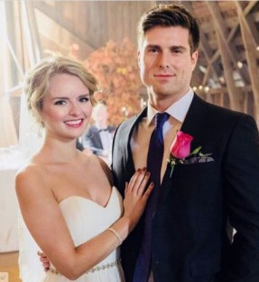 Andrea Brooks and Marcus Rosner on their Big day