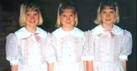 Childhood image of Erica Dahm along with her sisters, Nicole and Jaclyn.