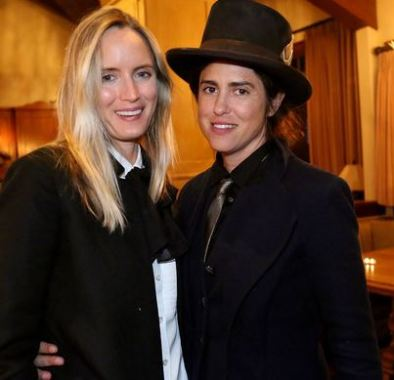 Francesca with her lesbian partner, Morgan Marling
