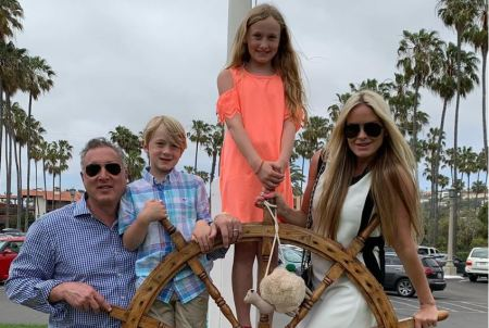 Nicole Dahm along with her spouse and two kids