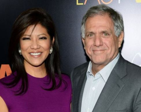 Les Moonves with his present wife, Julie Chen