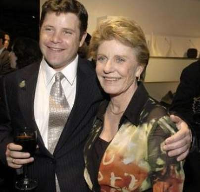Mackenzie's brother, Sean Austin with his late-mother, Patty Duke