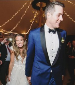 Madison McKinley and John Isner on their wedding day
