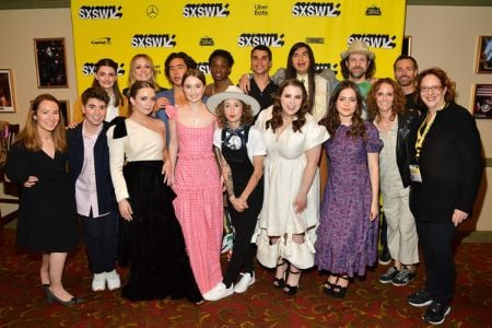 Cast and crew of Booksmart during the premiere.