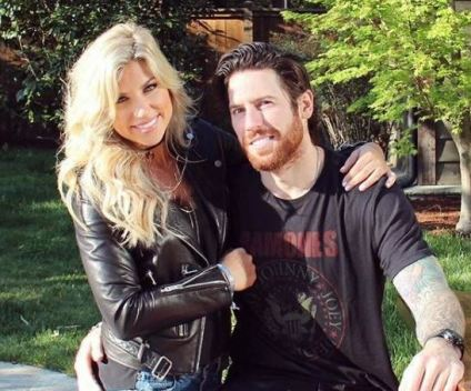 Melanie Collins with her boyfriend, James Neal