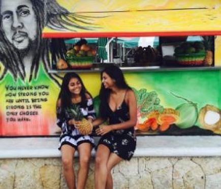 Shivani with her sister, Ishani