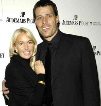 Tony Robbins with his present wife, Bonnie Robbins