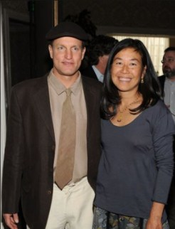 Woody Harrelson with his wife, Laura Louie