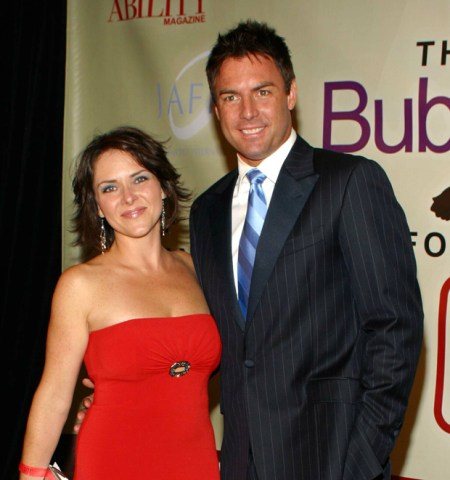 Leanza Cornett with her ex-husband Mark