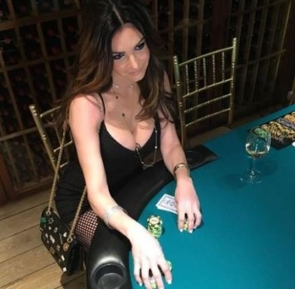 Beth Shak while playing poker