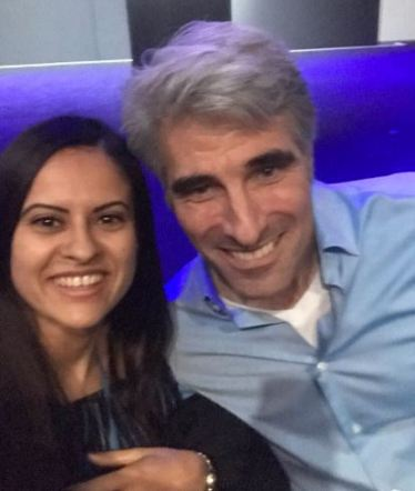 Craig Federighi with one of his well-wishers, Sanaa Squalli