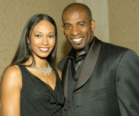 Deion Sanders with his ex-wife, Pilar Biggers-Sanders