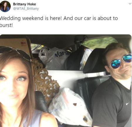 Brittany Hoke and her husband David
