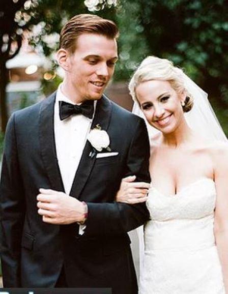 Jake Abel' wedding picture